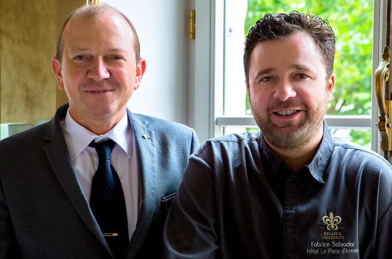 Chef_Fabrice_Salvador_et_Olivier_Schanne_Chef_Sommelier